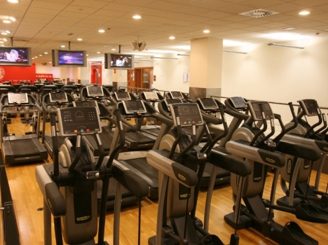Zona Cardio Gimnasio Virgin Active de Heron City Can Dragó